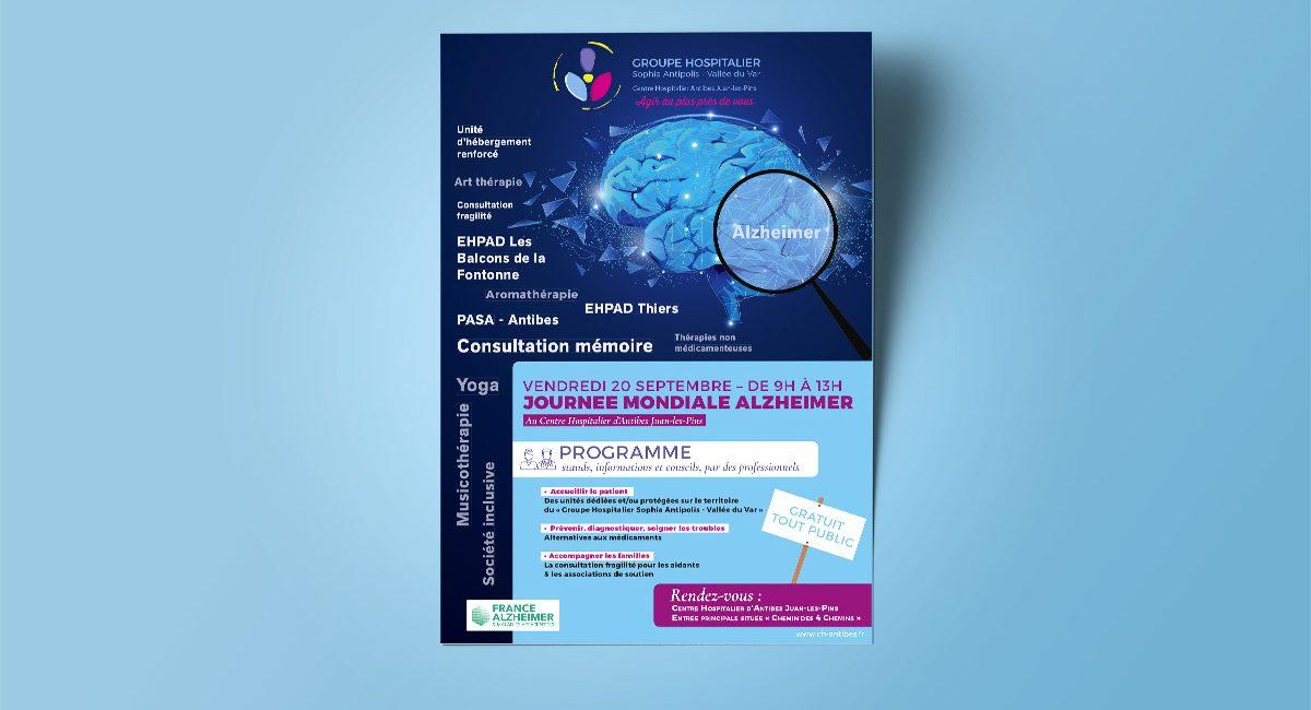 Affiche Alzheimer CH Antibes