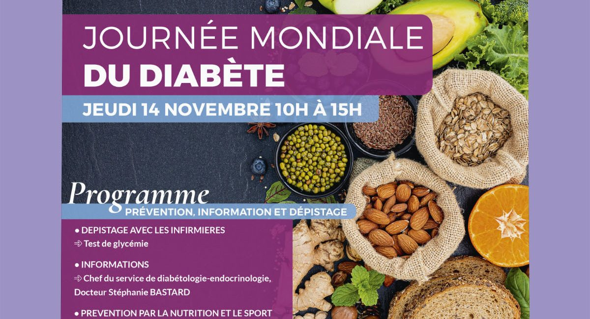 Affiche journee mondiale diabete ch antibes