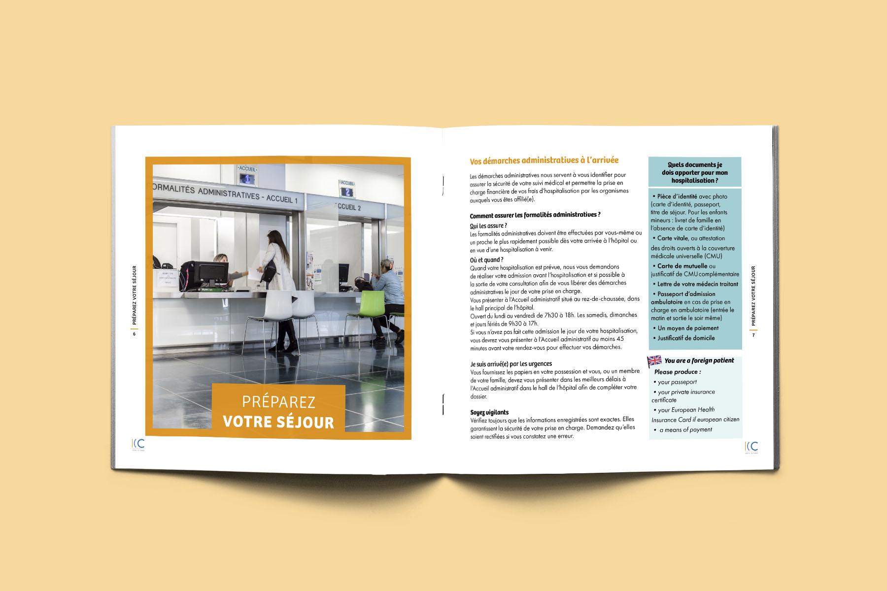 Brochure Livret Accueil Centre Hospitalier de Cannes – INTERIEUR 1