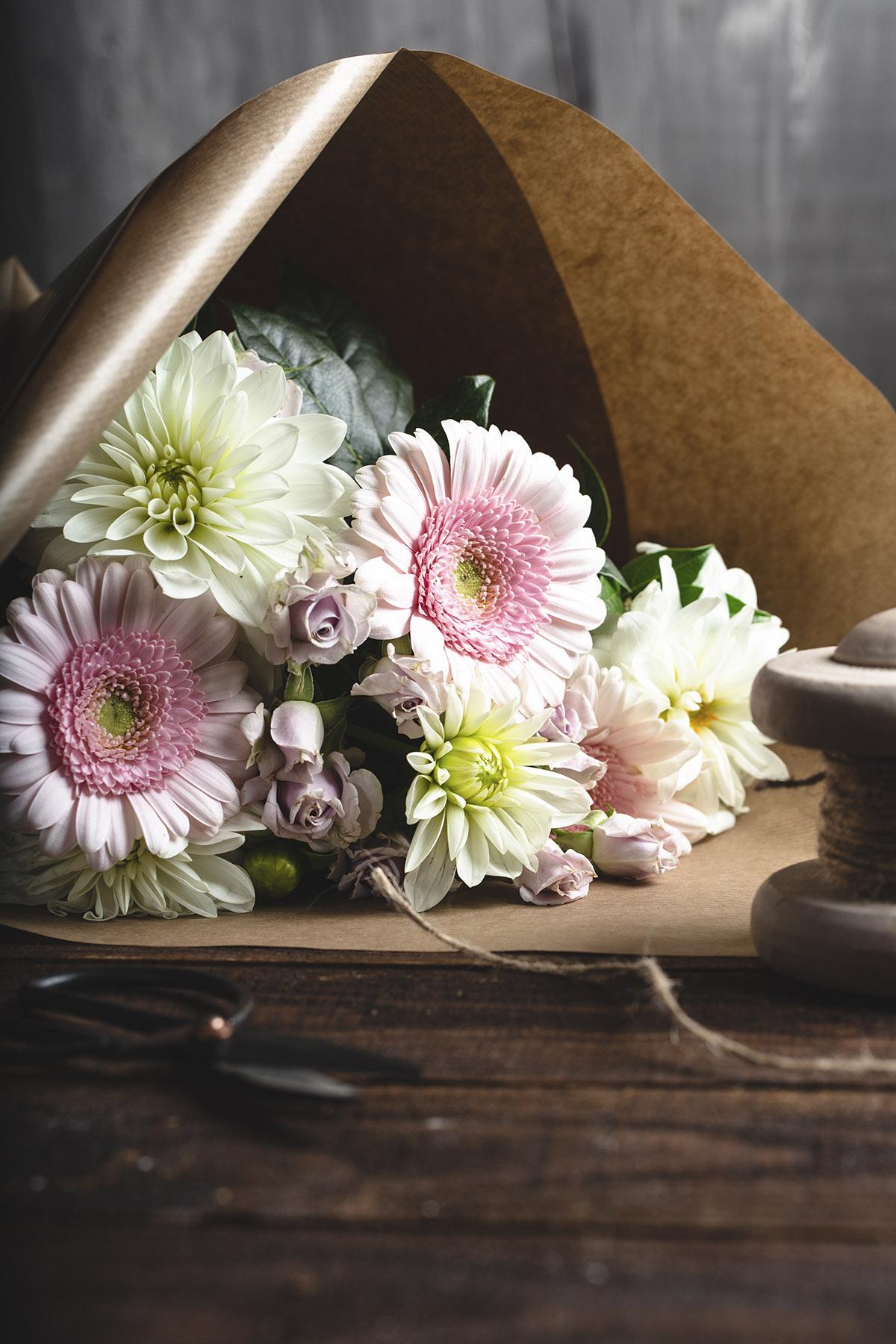 Bouquet en préparation